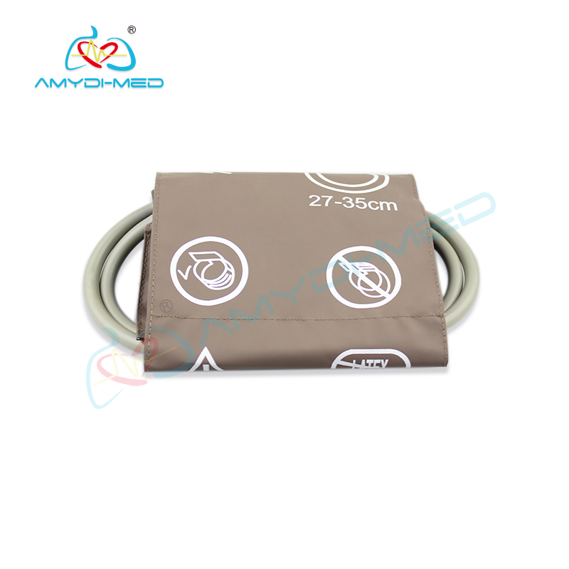 Reusable adult single tube NIBP cuff 27 to 35CM