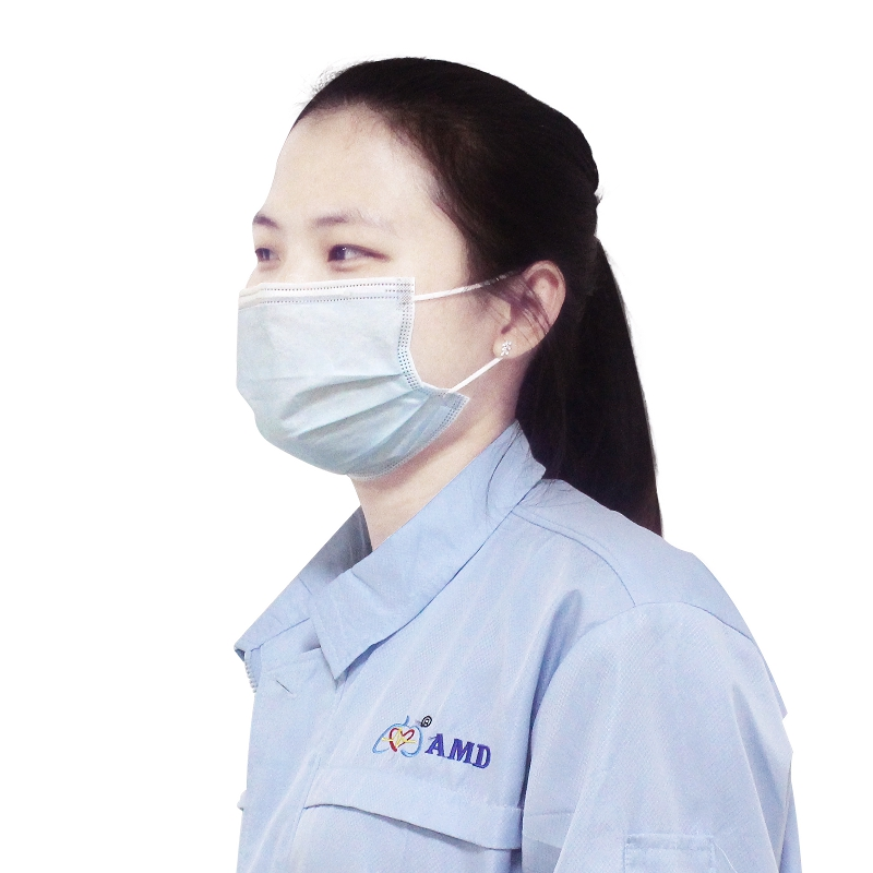 In Stock Non-woven disposable Face Mask 3 ply face mask disposable with tie-on BFE99%